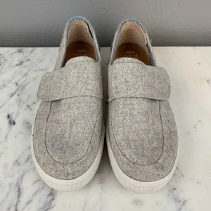 0a1ec7a4c510b TOMS Altair Wool Suede Slip On Sneakers in Oatmeal